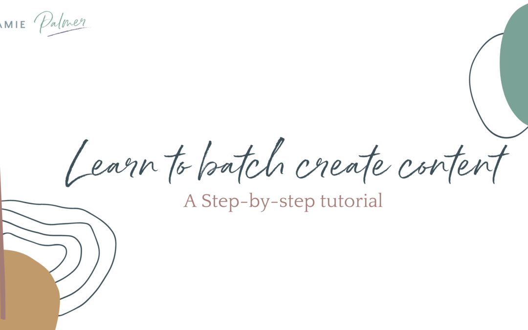 Learn to Batch Create Content